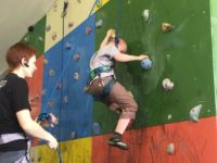 Мальчик с синдромом Дауна, 9 лет, первое занятие.